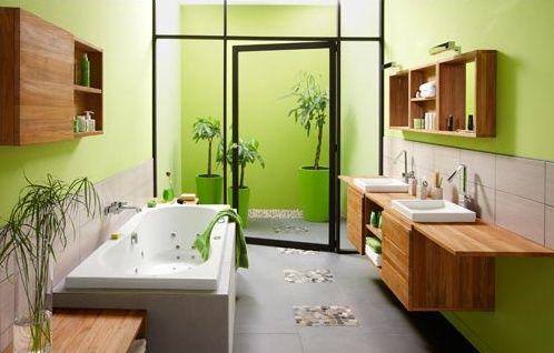 Salin de bain ambiance ecolo - Salle de bain ecolo de chez Leroy ...