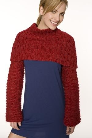 Image of Crocheted Candy Apple Shrug   So many crochet patterns, so ...