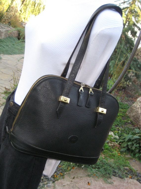 Discontinued Style Dooney Bourke Sassy Handbag Satchel Sdy Domed Bag Black On Excellent