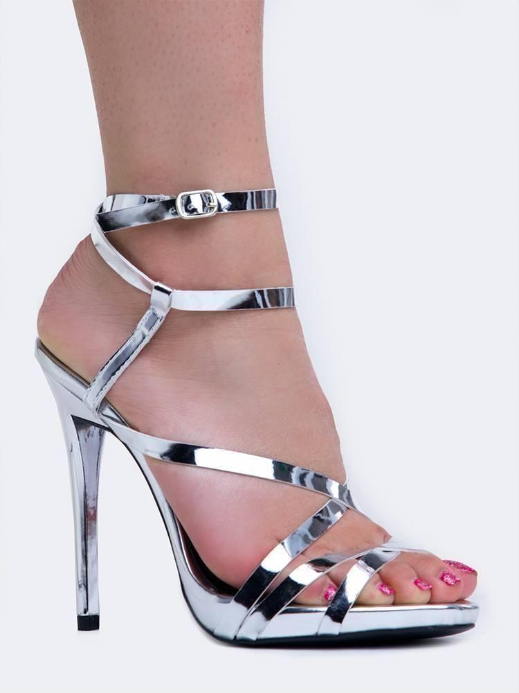 16ba11422ddd Gladly Strappy Sandal  strappysandalsheels  strappystilettoheels   sandalsheelswedding  AnklestrapsHeels