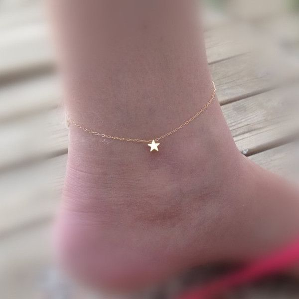 A beautiful tiny gold star anklet bracelet Simple and cute. You must have  one for