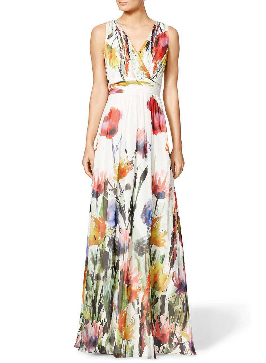 e862ce173af0e Flower dress with high hemisphere detail combined with trousers and a  shearling coat that makes the appearance look more stylish