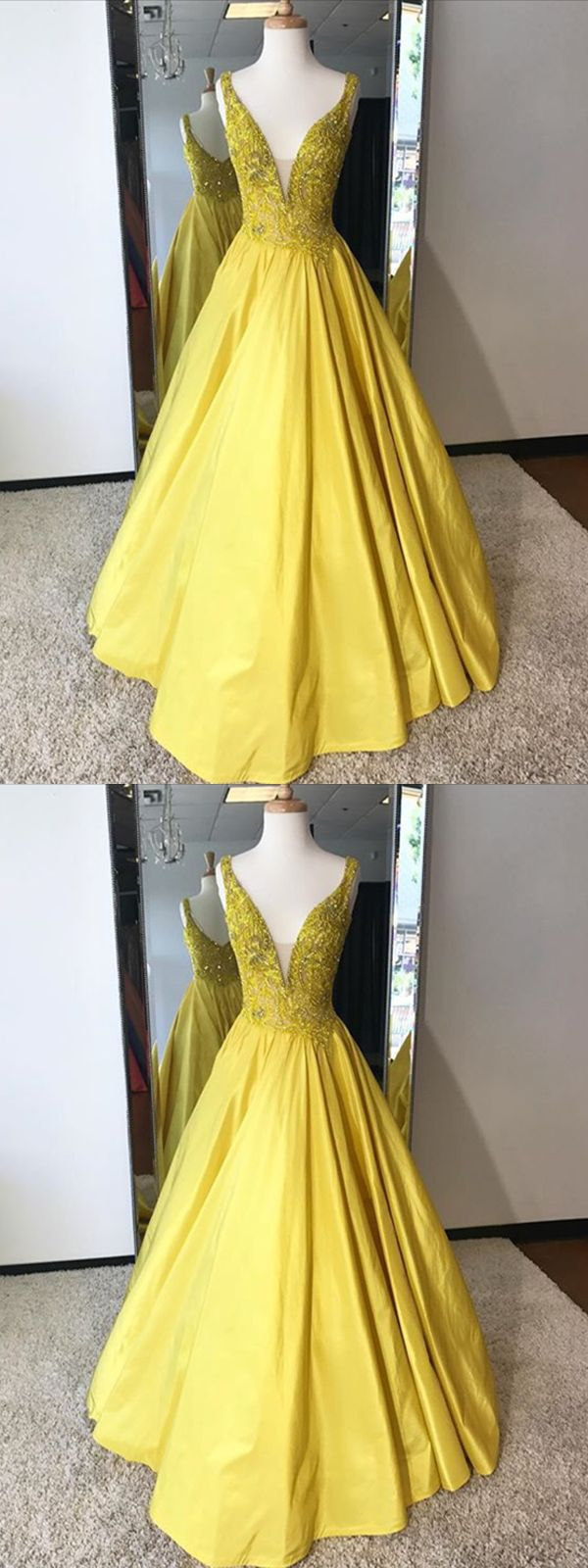 long prom dress aline cheap simple modest yellow african prom