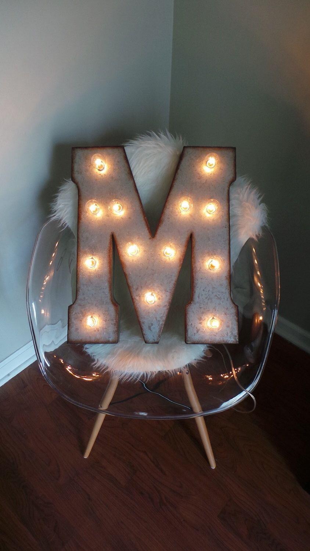 Metal Marquee Single 21 Light Up Letter Lights Custom Colors Available Light Up Letters Light Letters Metal Lighting