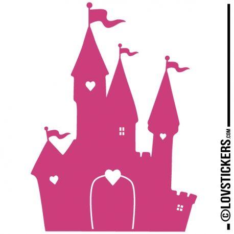 Sticker chateau princesse d coration int rieur en vinyle nombreux coloris b b pinterest - Dessin chateau princesse ...