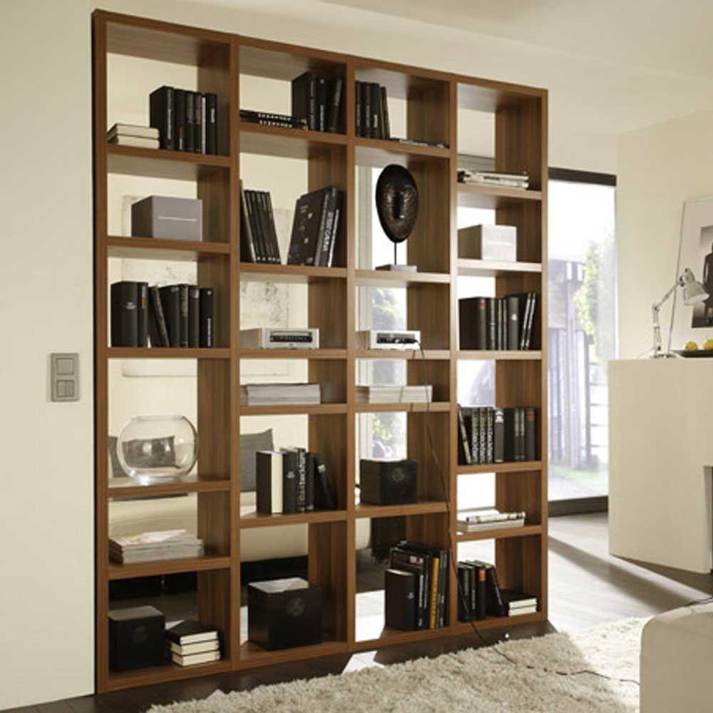 raumtrenner in walnussfarben wohnzimmer regale raumteiler braun holzwerkstoff star. Black Bedroom Furniture Sets. Home Design Ideas