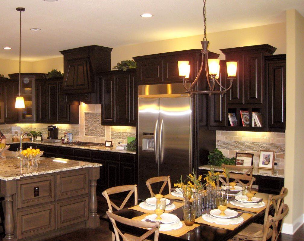 Tuscan kitchen - our model - black fridge plus add lighted ...