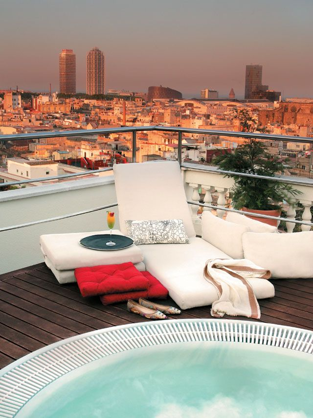 The Roof Top Jacuzzi At The H10 Montcada Hotel In Barcelona... Mmmm.