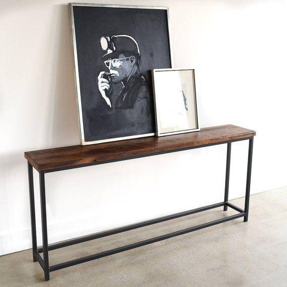 Box Frame Console Table Sofa Reclaimed Etsy