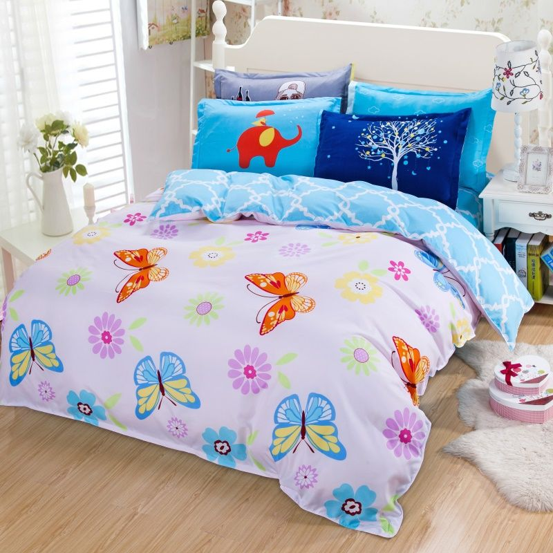 2016 new Nordic cartoon style queen/full/twin size bed