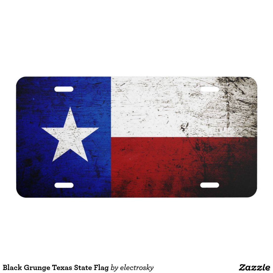 Black Grunge Texas State Flag License Plate Zazzle Com Texas State Flag Black Grunge State Flags