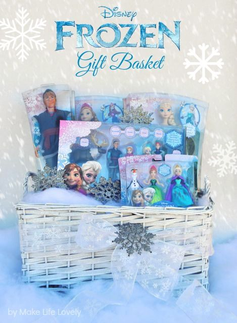 Diy Disney Frozen Gift Basket Gift Baskets Theme Baskets Auction Baskets