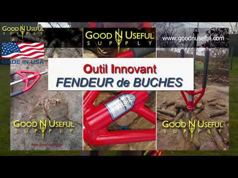 Fendeur Buches Bois Chauffage Splitz All Outil Innovant Manuel Revolutionnaire Pour Fendre Debiter Youtube In 2020