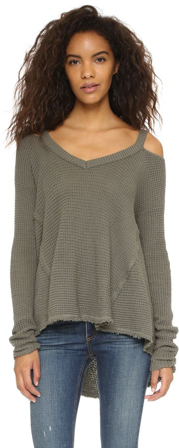 Free People Moonshine V Neck Sweater