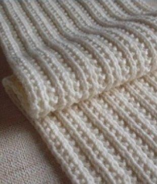 шарф фигурной резинкой спицами перчатки варежки шарфыразное