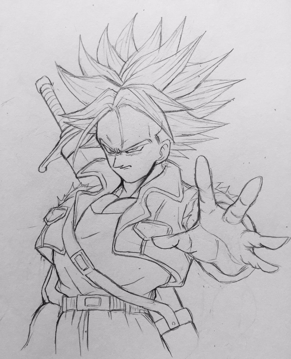 Dessin Mirai Trunks Super Saiyajin 2 Dragon Ball Z Dbz