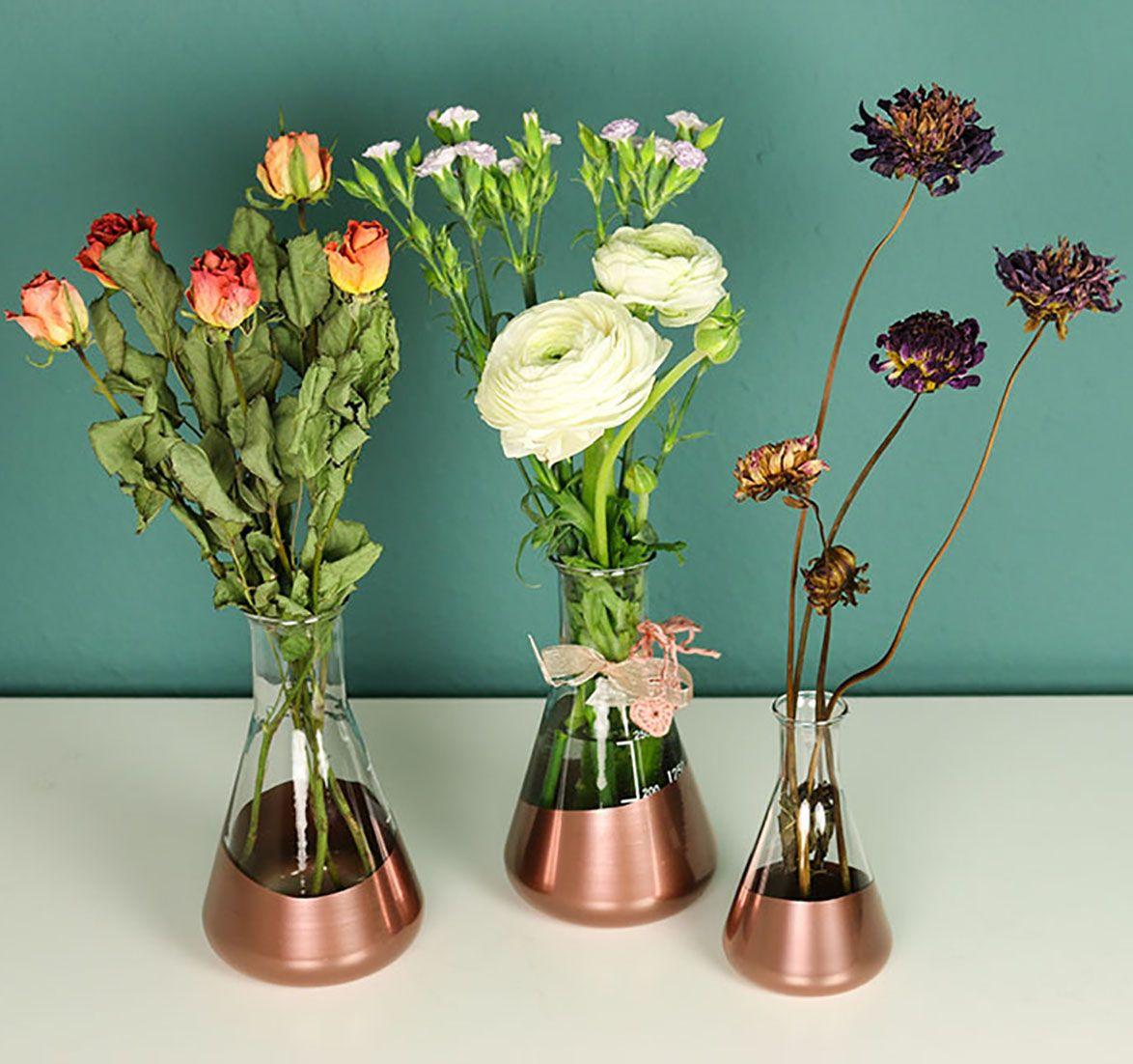 diy vasen aus erlenmeyerkolben inspiration kreation diy eigenkreation pinterest. Black Bedroom Furniture Sets. Home Design Ideas