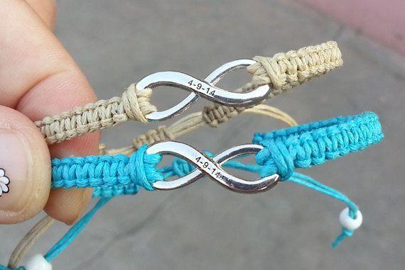 Couples boyfriend girlfriend bracelet set of his hers