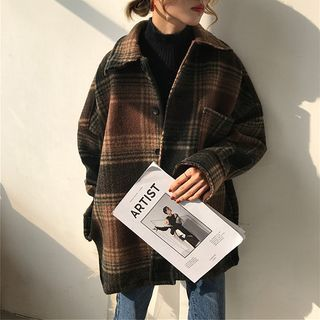 Photo of Buy Moon City Plaid Jacket at YesStyle.com! Quality products