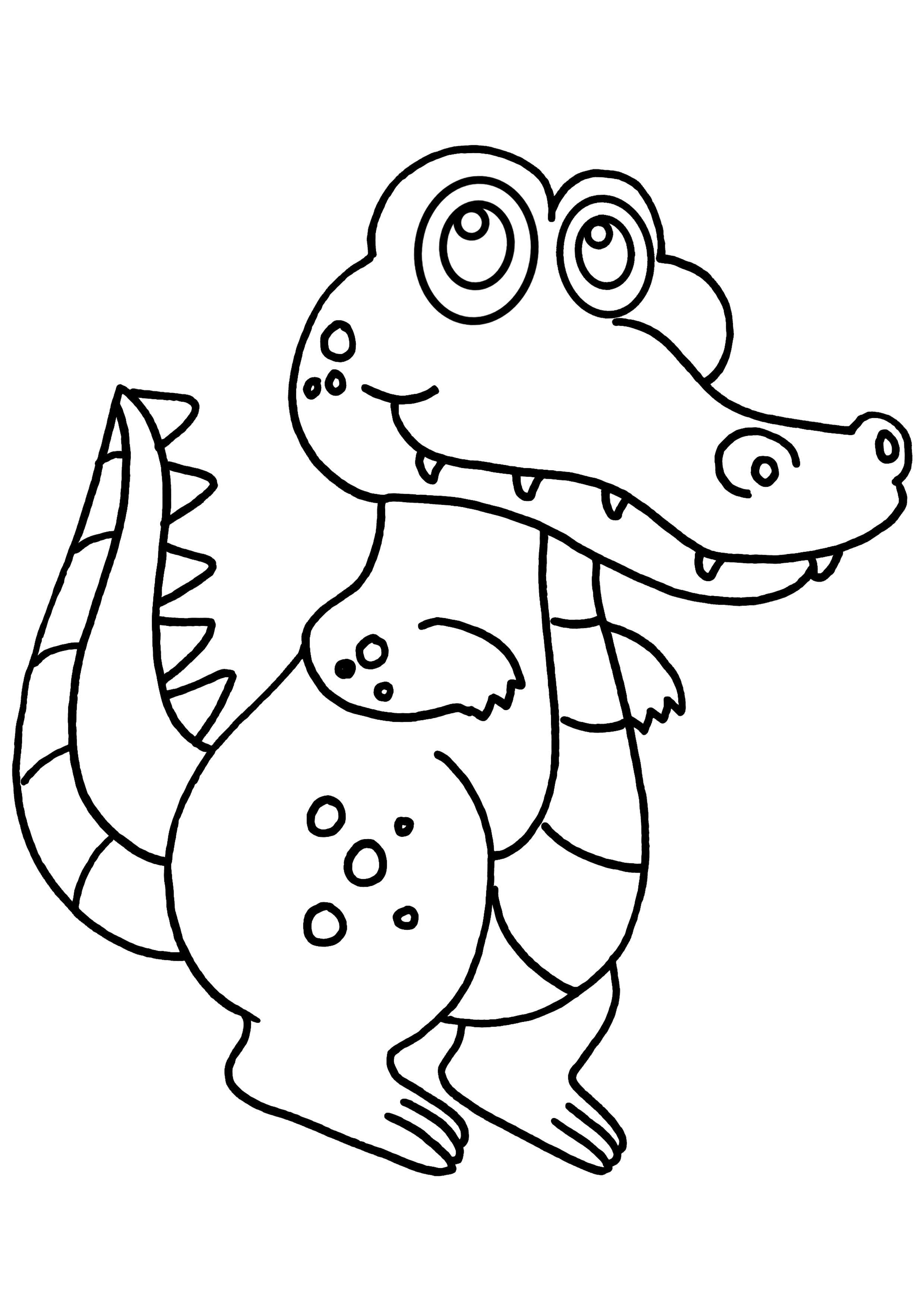 Dessins Gratuits Colorier Coloriage Alligator Imprimer Decoloriage à