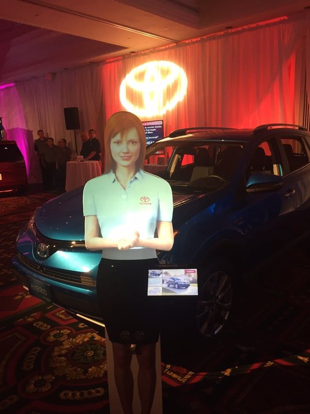 Watch how Toyota uses PRSONAS interactive holograms to introduce new