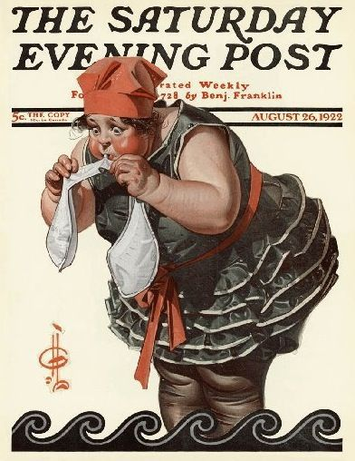 Woman water wings. J.C. Leyendecker and The Saturday Evening Post - Norman Rockwell Museum