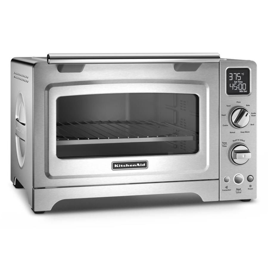 Kitchenaid 4 Slice Silver Convection Toaster Oven Kco273ss In 2020 Countertop Oven Countertop Convection Oven Outdoor Kitchen Design