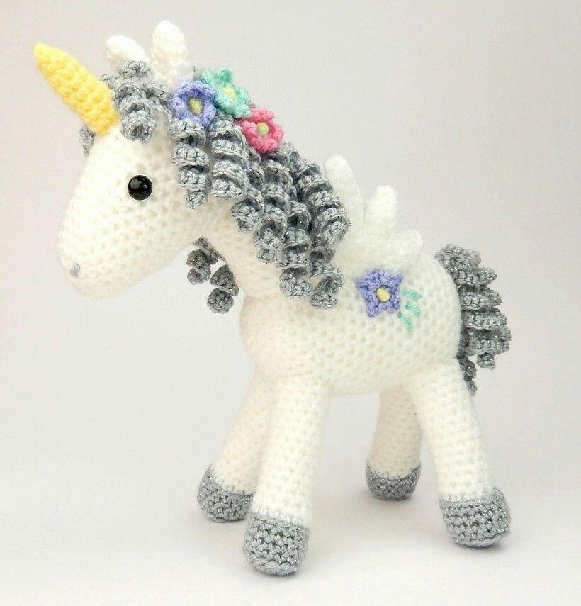 Unicorn Knitting Pattern Uk : Curlicue the unicorn amigurumi crochet pattern yarn