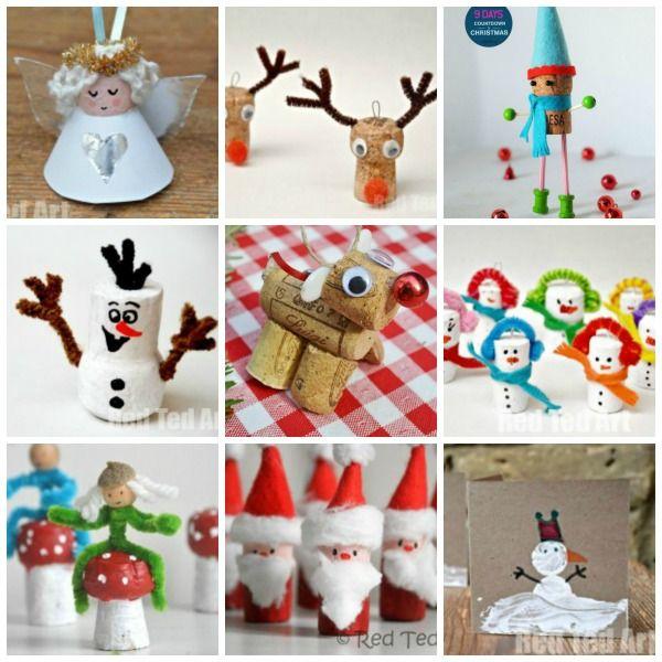 Charming Art Craft Christmas Ideas Part - 9: 12 Christmas Cork Crafts - Getting Festive