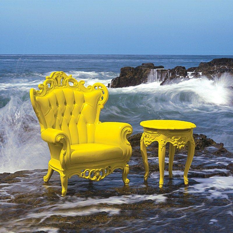 Polyurethane garden armchair with armrests PLASTIC LUIGI ...