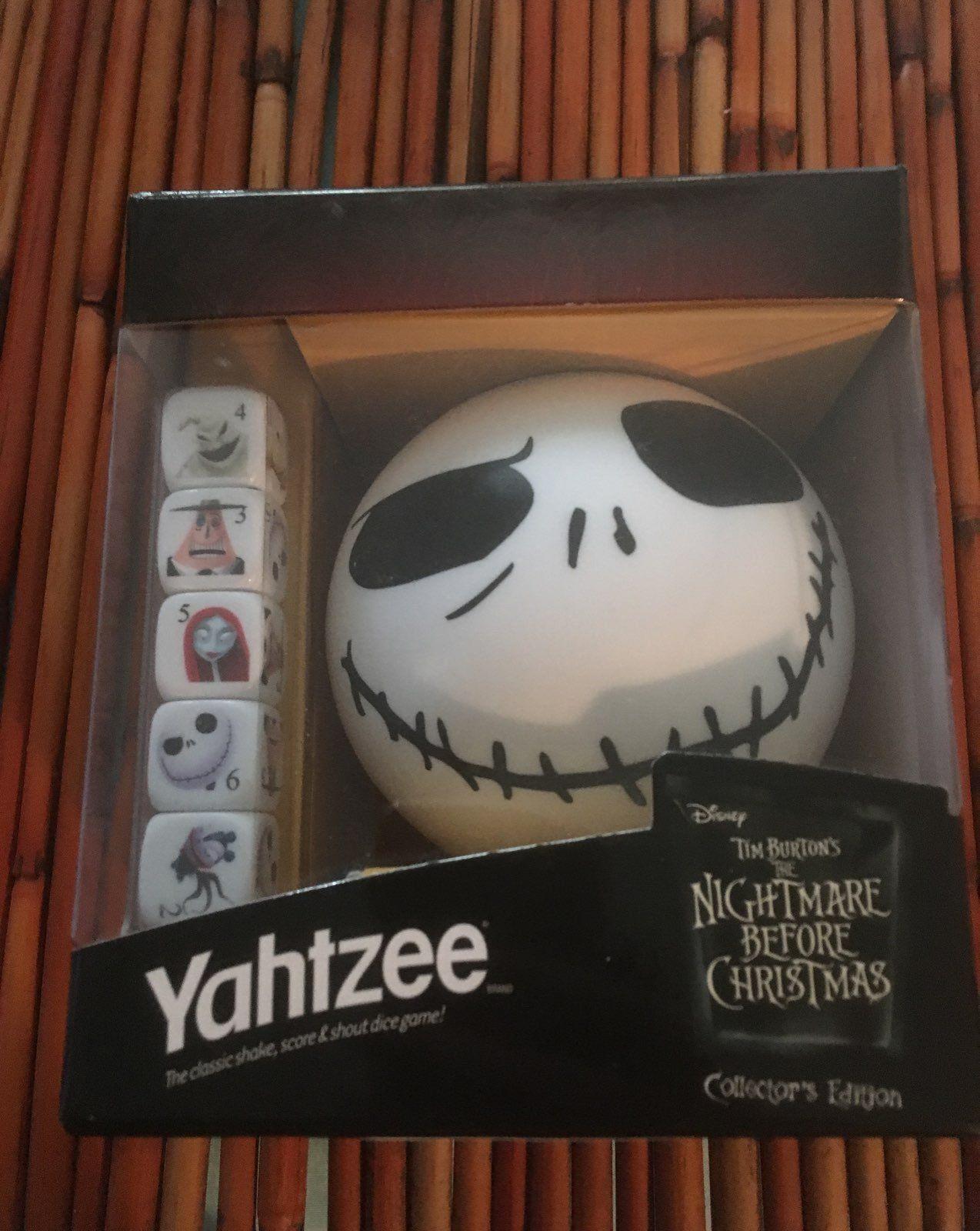 Cool item: Yahtzee Nightmare Before Christmas   Christmas 2018 ...