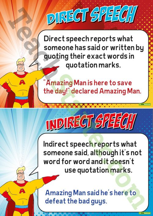 Amazing Man helps students to learn what both direct and indirect ...