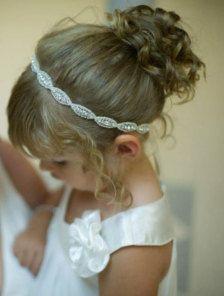 Adorable Flower Girl Headband Flowergirl Hair Wedding