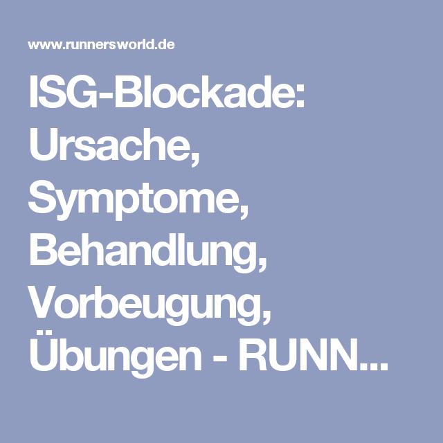 ISG-Blockade: Ursache, Symptome, Behandlung, Vorbeugung, Übungen - RUNNER'S WORLD