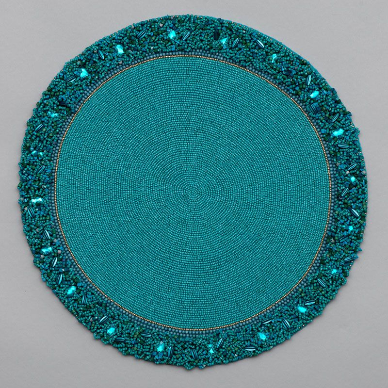 Round Placemat With Cluster Border Placemats Wedding Table Decorations Diy Table Runner And Placemats