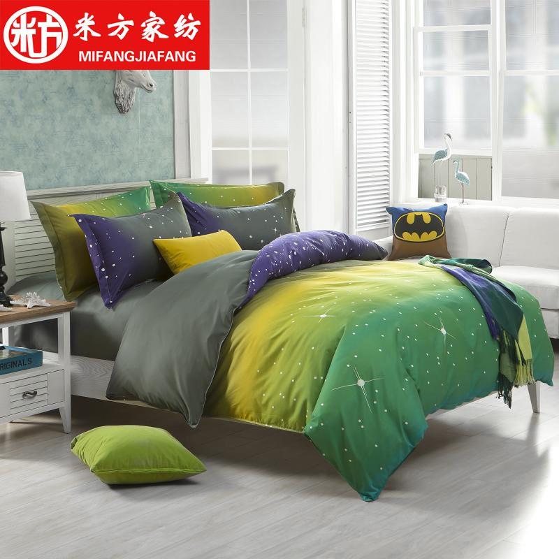 Nantong Textile Personality Four Piece Bedding Set Of Four Korean Manufacturers  Wholesale Four Piece Goods