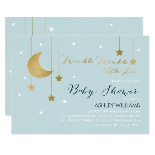 Blue moon and stars baby shower invitation baby shower pinterest blue moon and stars baby shower invitation filmwisefo