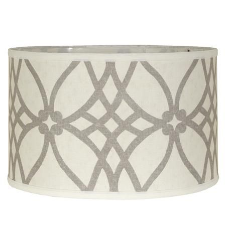 16 trellis linen drum lampshade drums linens and drum shade 16 trellis linen drum lampshade aloadofball Choice Image