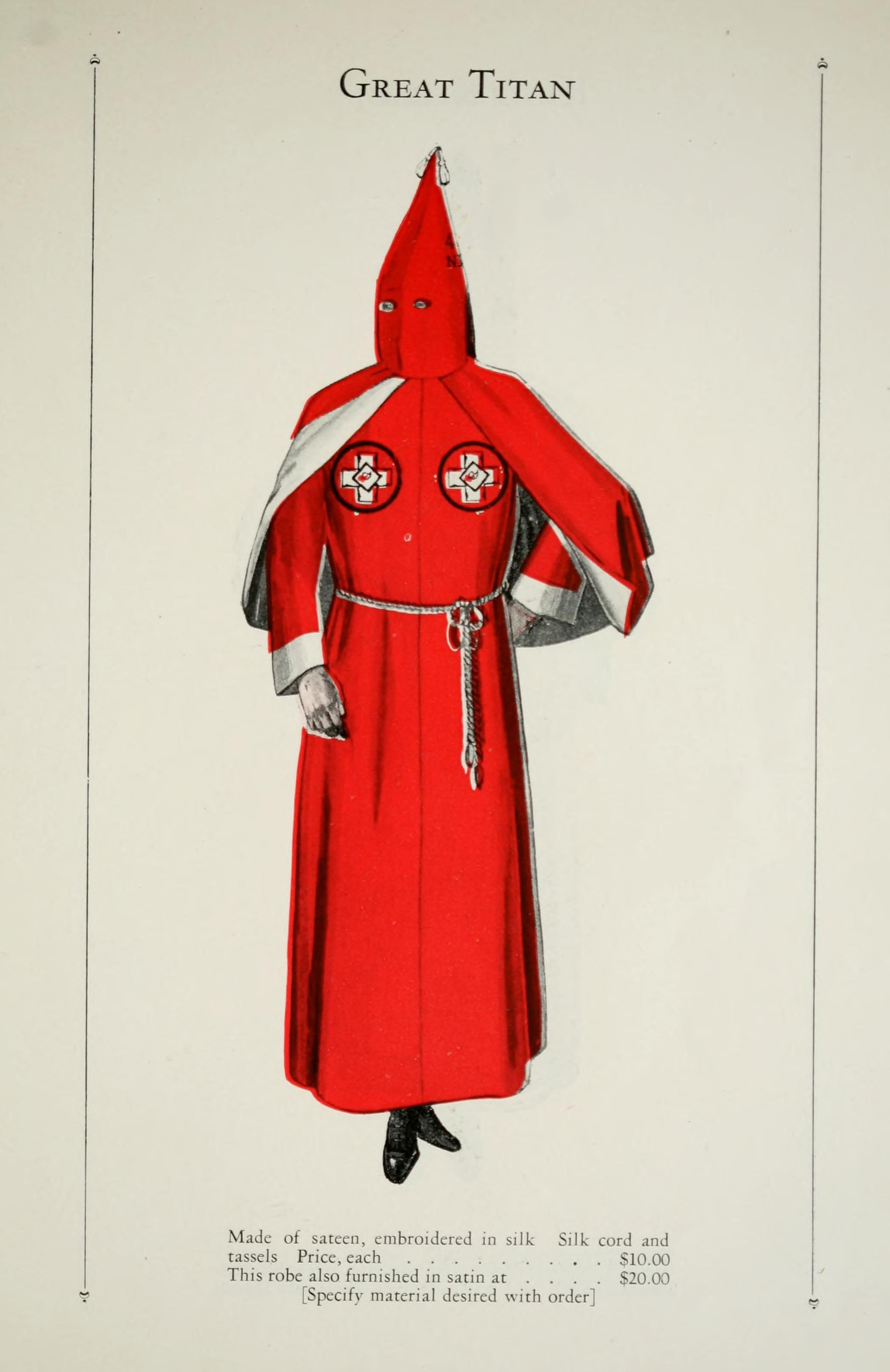your official ku klux klan robe catalog dragon ranges and catalog catalogue of offical robes and banners by the ku klux klan retronaut retronaut see