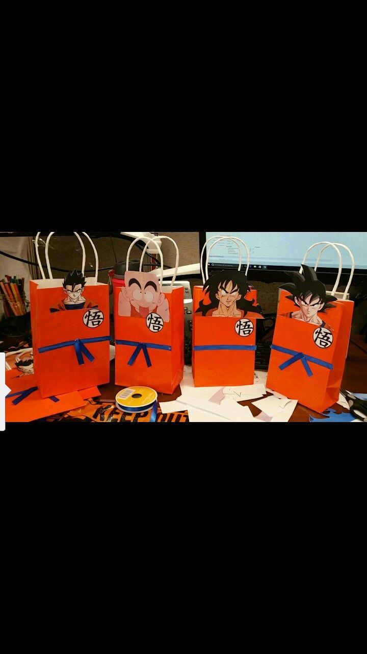Candy Bags Dragon Ball Z Party Bags Dragon Birthday