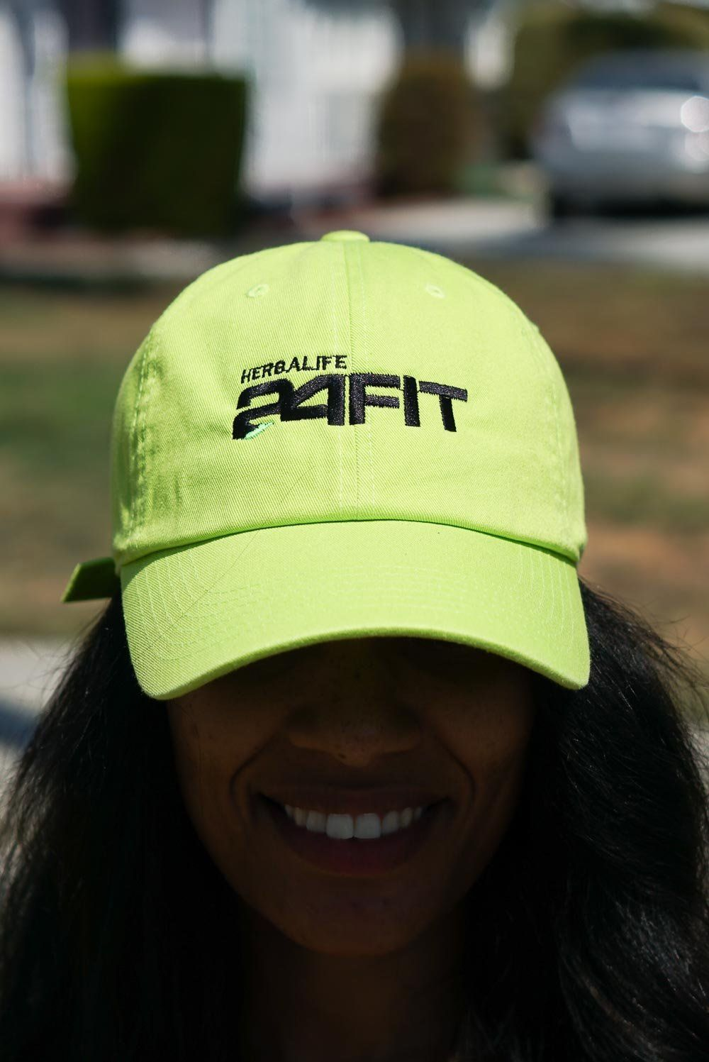 ecb0f91ce7d56f Herbalife 24 FIT polo dad hat, neon green w/black | litnesssociety ...