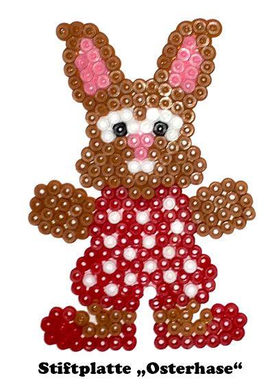 Hase Kaninchen Perler Bead Dekoration Ornaments Von