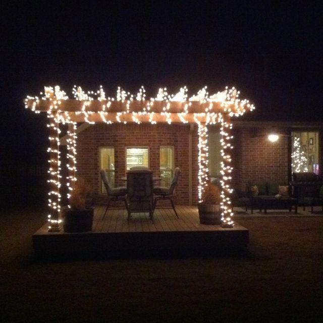 Christmas Lights On Our Pergola Dream House Pergola