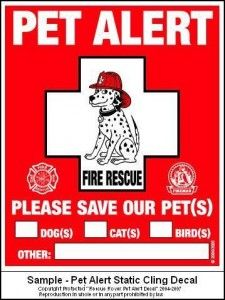 If your not home this free printabel sign can alerts the fire