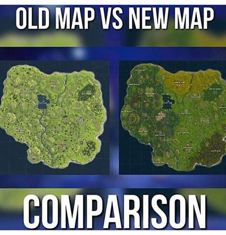 The Old Map Was Really Empty Fortnite Old Map Xbox