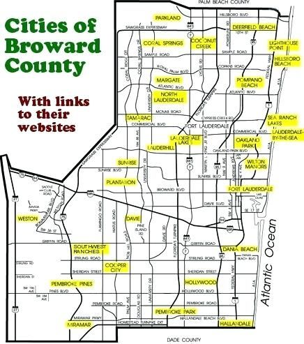 Map Of Broward County Florida broward county florida map free ... Broward County Map on