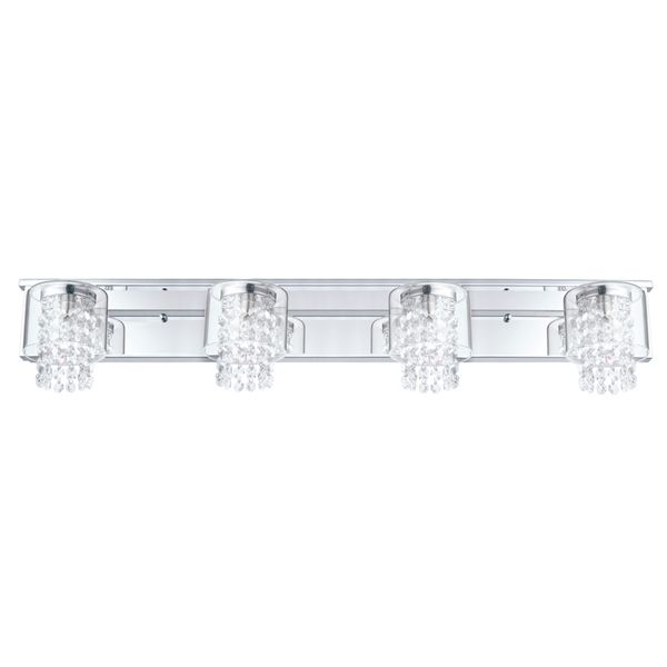 Shop eglo 4 light kissling chrome standard bathroom vanity light at lowes canada find
