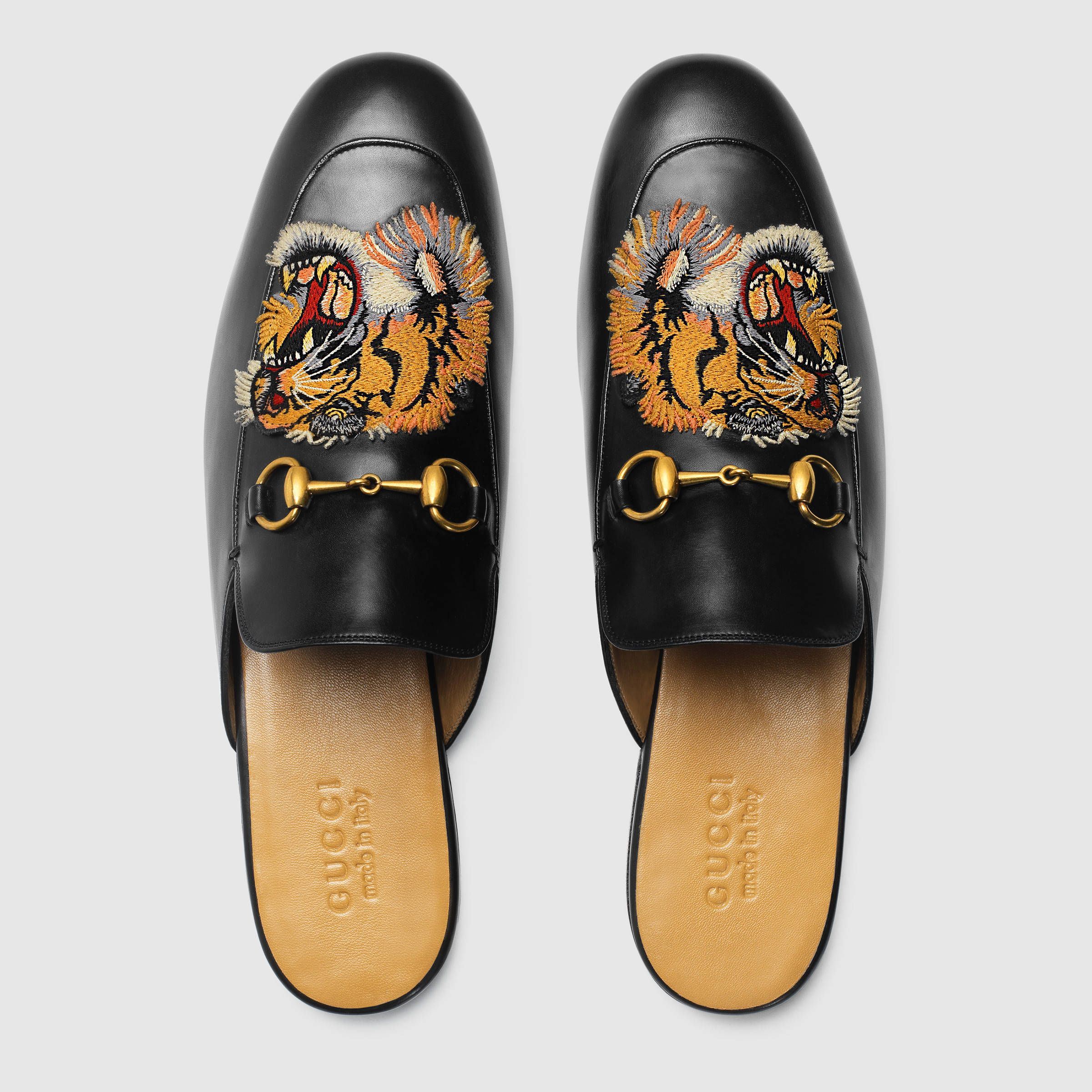 cdf8cd8d010 Gucci Princetown embroidered slipper Detail 3