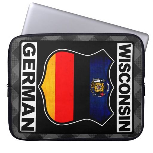 #Wisconsin German American Laptop Case, available to purchase at #Zazzle.com, items can be customized with your own text #germanamerican #germany #deutschland