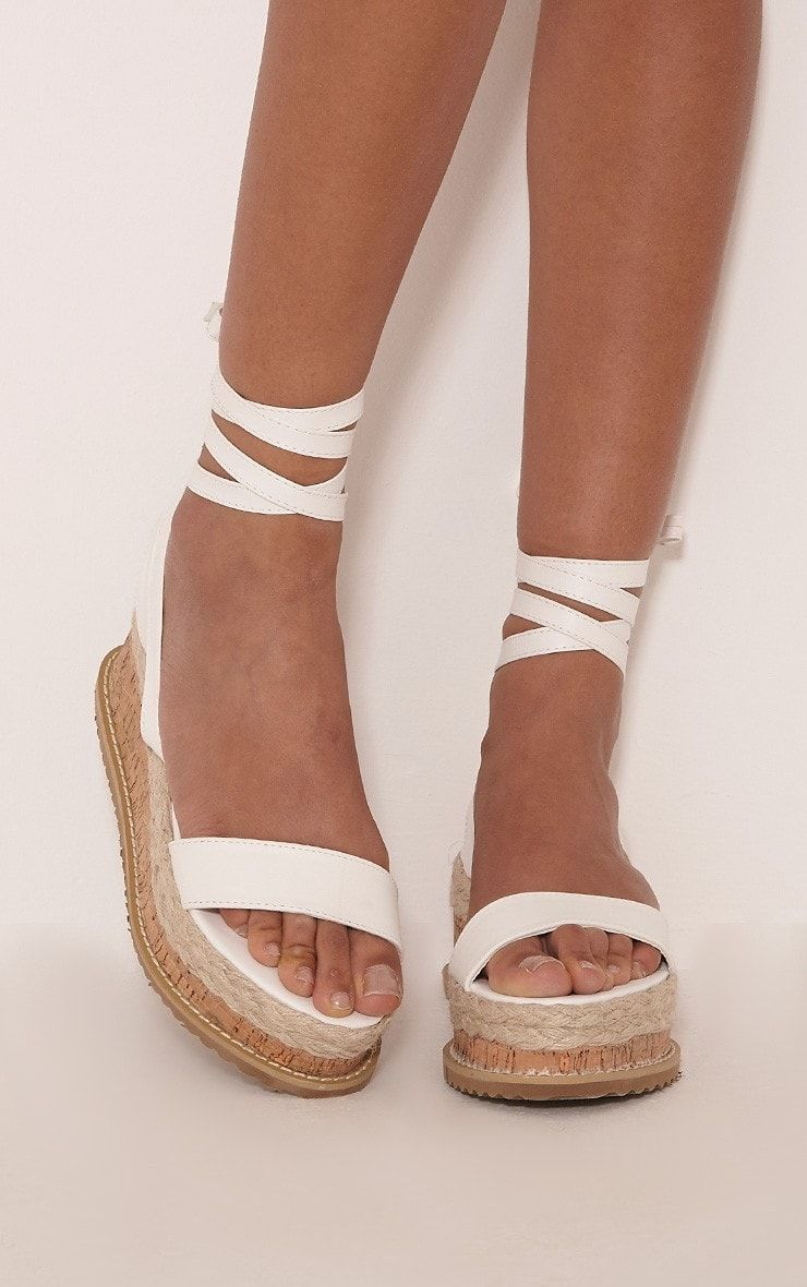 cb354b41313 White Espadrille Flatform Sandals Keep your look fresh and totally on point  with white flatforms.